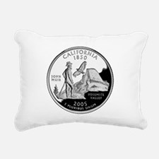 California Quarter.png Rectangular Canvas Pillow