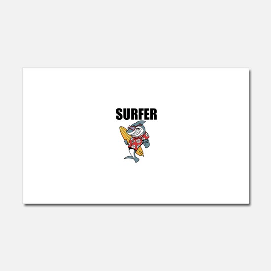 Surfer Car Magnet 20 x 12