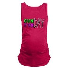 Sunday Funday Maternity Tank Top