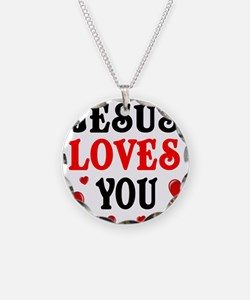 Jesus loves you -Hearts Necklace