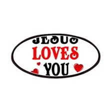Jesus loves you -Hearts Patches