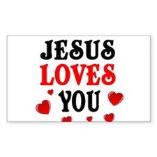 Jesus loves you -Hearts Decal