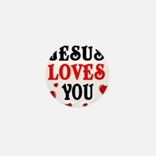 Jesus loves you -Hearts Mini Button (100 pack)
