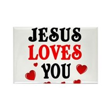 Jesus loves you -Hearts Magnets