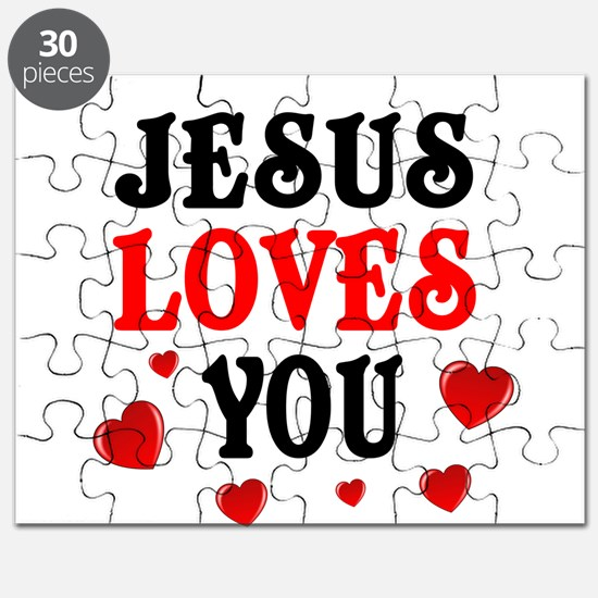 Jesus loves you -Hearts Puzzle