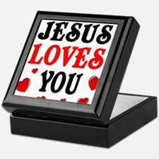 Jesus loves you -Hearts Keepsake Box