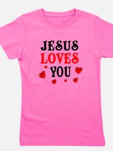 Jesus loves you -Hearts Girl's Tee