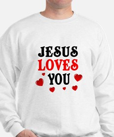 Jesus loves you -Hearts Sweatshirt