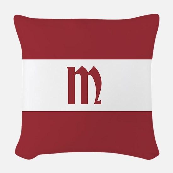Team Latvia Monogram Woven Throw Pillow