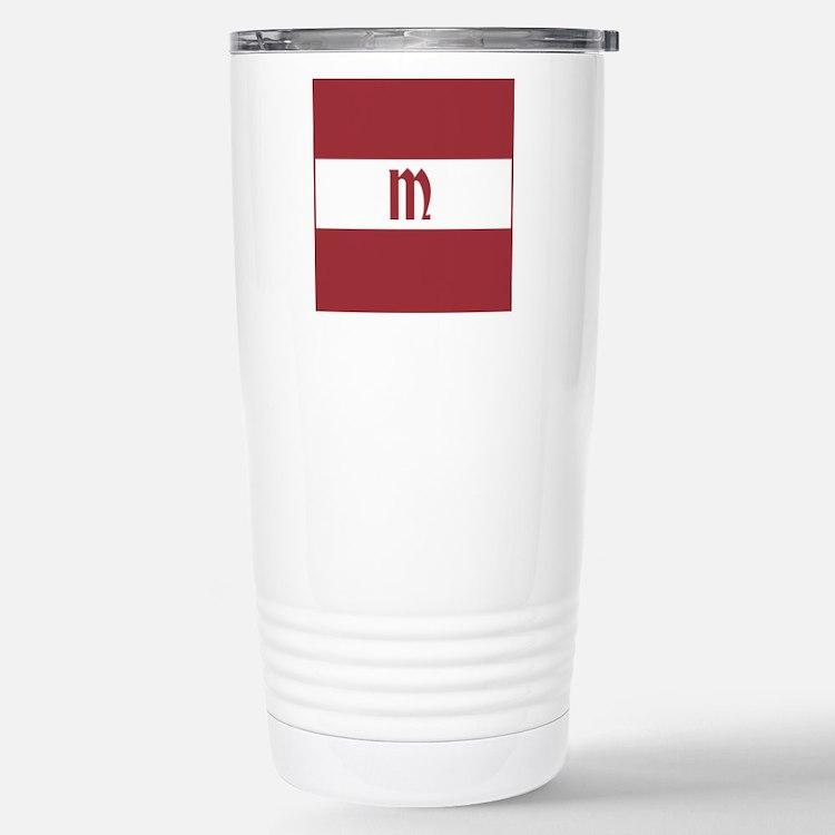 Team Latvia Monogram Stainless Steel Travel Mug