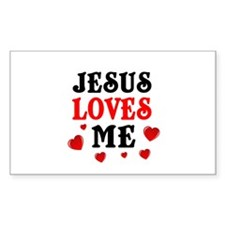 Jesus loves me hearts Decal