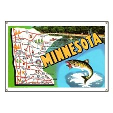 1940's Minnesota Map Banner