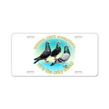 Cute Pigeon Aluminum License Plate