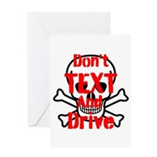 Dont Text and Drive Greeting Cards