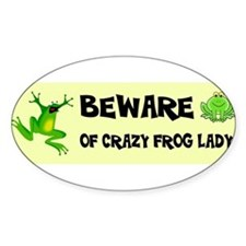 Crazy Frog Lady Decal
