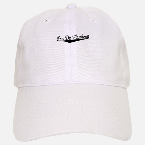 Lac Du Flambeau, Retro, Baseball Baseball Baseball Cap
