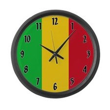 Flag of Mali Large Wall Clock