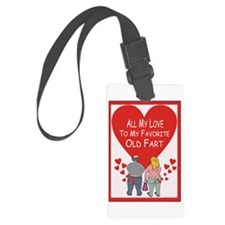 Old Fart Love Luggage Tag