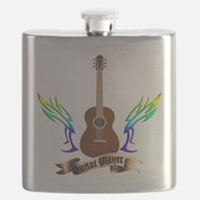 Western Classic Guitar player Flask