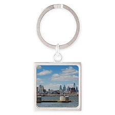 Philadelphia Skyline Square Keychain