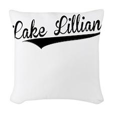 Lake Lillian, Retro, Woven Throw Pillow
