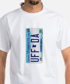 Uffda Minnesota License Plate T-Shirt
