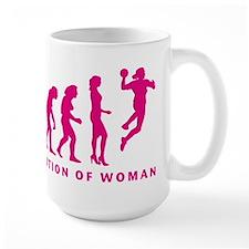 evolution of woman handball player Mugs