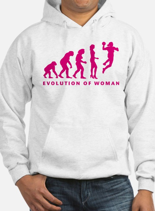 evolution of woman handball player Hoodie