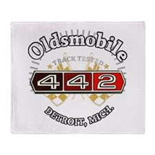 Olds 442 Muscle Throw Blanket
