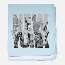 NEW YORK baby blanket