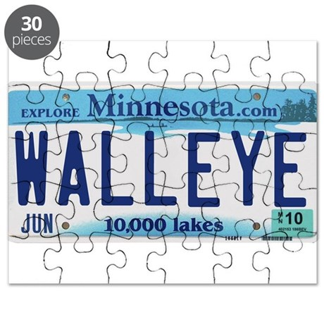 Minnesota Walleye License Plate Puzzle By Lakesnwoods