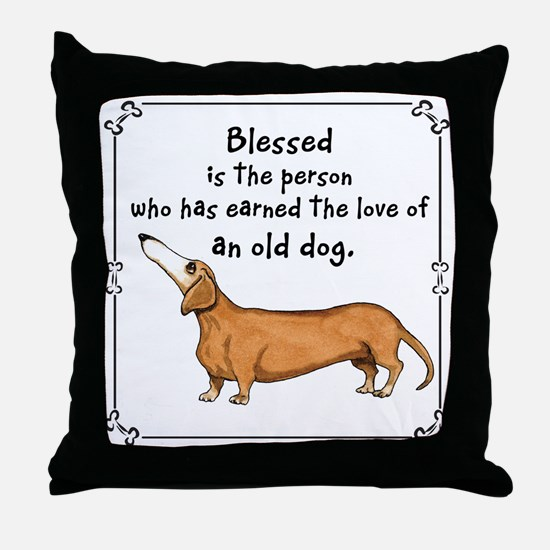 Old Dachshunds Throw Pillow