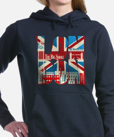 LONDON Women's Hooded Sweatshirt