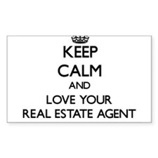 Keep Calm and Love your Real Estate Agent Decal