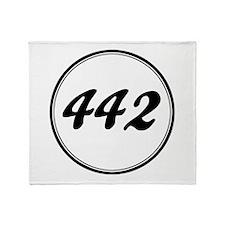 Olds 442 Racing Throw Blanket