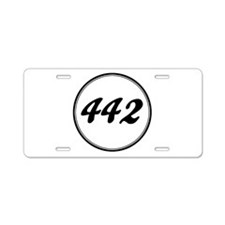 Olds 442 Racing Aluminum License Plate