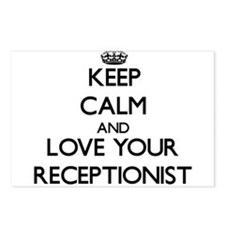 Keep Calm and Love your Receptionist Postcards (Pa