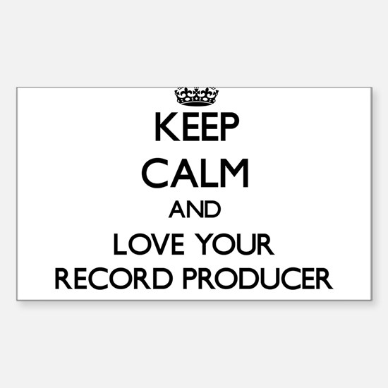 Keep Calm and Love your Record Producer Decal