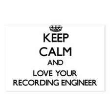 Keep Calm and Love your Recording Engineer Postcar