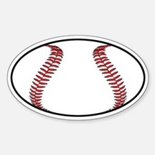 Baseball Oval Decal