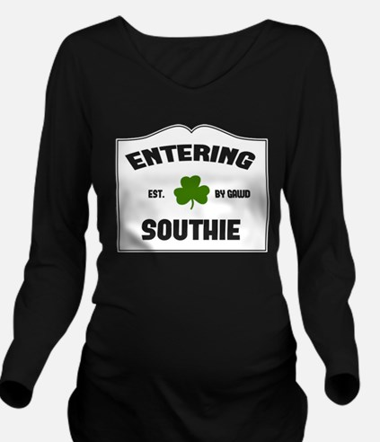 Entering Southie Long Sleeve Maternity T-Shirt