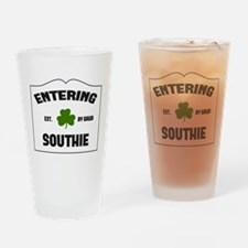 Entering Southie Drinking Glass