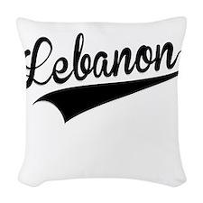 Lebanon, Retro, Woven Throw Pillow