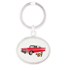 '57 Chevy - Hot Wheels Oval Keychain