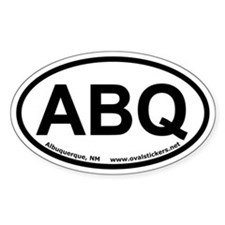 Albuquerque, New Mexico Oval Car Decal