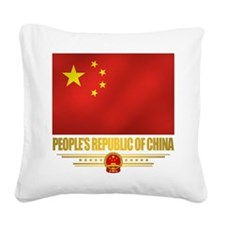 Peoples Republic of China Flag Square Canvas Pillo