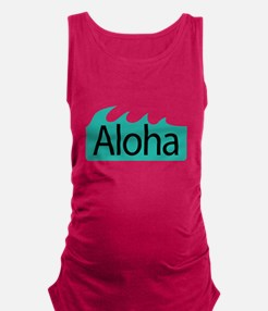 Aloha Waves Maternity Tank Top