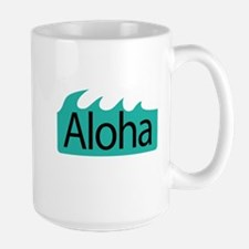 Aloha Waves Large Mug
