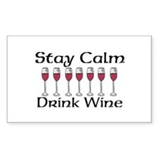 Stay Calm Drink Wine Decal