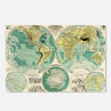 Old World Map Postcards (Package of 8)